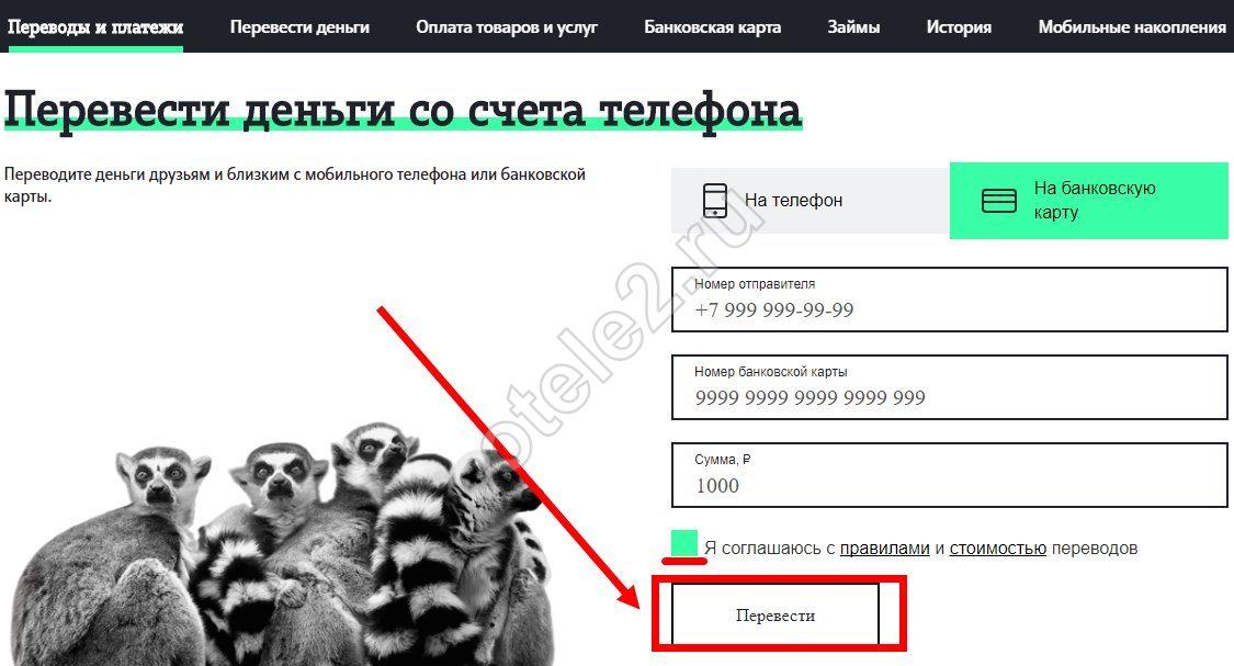 теле2 перевод денег с телефона на карту сбербанка без комиссии теле2 кредит на образование для студентов сбербанк отзывы